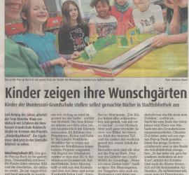 Zeitungsbericht: Kinder zeigen ihre Wunschgärten